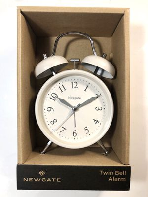 Newgate Twin Bell Alarm Clock (Matte Pebble White) for Sale in Chicago, IL