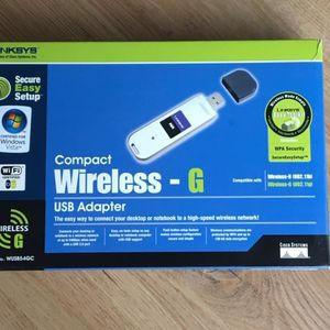LINKSYS Compact Wireless-G USB Adapter with Speedbooster for Sale in Livingston, NJ