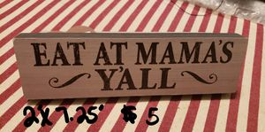 Wood Block Sign for Sale in Columbus, MS