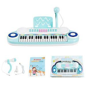 Multifunctional 37 Electric Keyboard Piano With Microphone-Blue TY578762BL for Sale in Santa Ana, CA