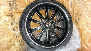 20' Black and Chrome Rims for Sale in Los Angeles, CA