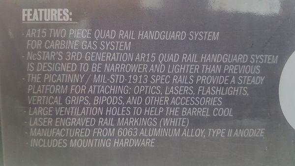 Quad rail