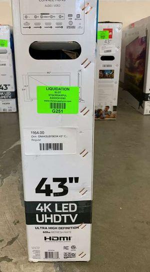 """New ONN 43"""" 4K TV open box w/ warranty IJ for Sale in Plano, TX"""