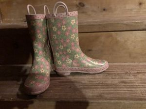 RAIN BOOTS GIRLS STEEL SPANK BRAND SIZE 13/1 ONLY WORN ONCE GREAT CONDITION for Sale in Grand Rapids, MI