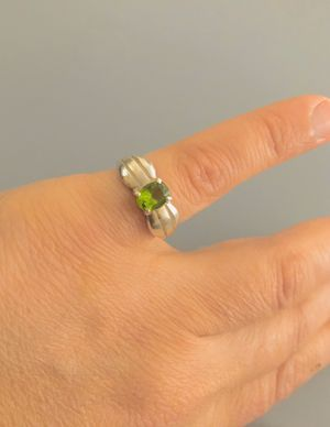 Vintage 925 sterling silver ring with light green zircon for Sale in Bloomfield Hills, MI