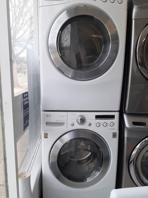 Lg front load washer and electric dryer set in good condition with 90 day's warranty for Sale in Mount Rainier, MD