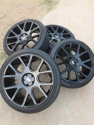 20 rims and wheels 5x114.3 camry corolla nissan altima sentra toyota dodge avenger charger ford mustang honda civic Accord gloss black 5x115 for Sale in Riverside, CA