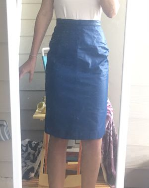 Nordstrom Blue Genuine Leather pencil skirt for Sale in Austin, TX