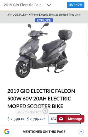 Electric scooter for Sale in US