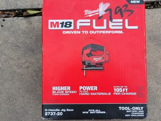 Milwaukee M18 FUEL 18-Volt Lithium-Ion Brushless Cordless Jig Saw (Tool-Only) for Sale in San Antonio,  TX