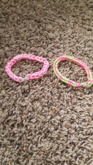 Rainbow loom bracelets fish braid design for Sale in Corona, CA