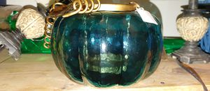 NWT Teal/blue glass pumpkin candle holder from Pier One for Sale in Virginia Beach, VA