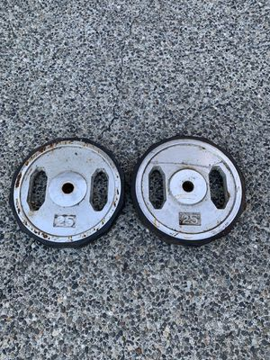 25lb Rubber Bumper Plates Pair (50lb of Weight) for Sale in Bremerton, WA