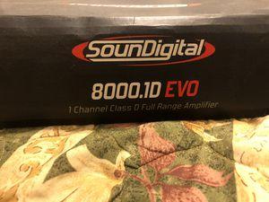 Soundigital 8000.1D EVO 8,000W Rms Fullrange Mono Amplifier for Sale in Fresno, CA