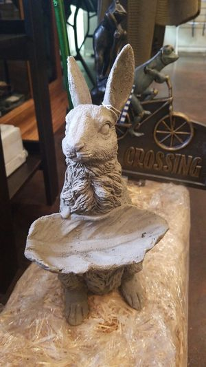 Rabbit with leaf bird feeder for Sale for sale  Murphys, CA