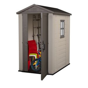 Keter Factor 4' x 6' Resin Storage Shed, All-Weather Plastic Outdoor Storage. Neq in Box!!! for Sale in San Antonio, TX