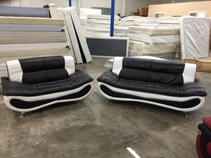 Brand new black & white leather couch set for Sale in Portland, OR