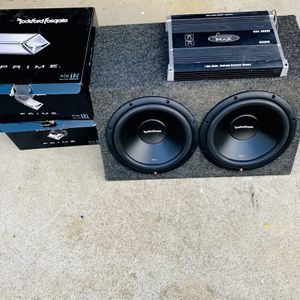 ($300 No Less/no Menos ) New Fosgate 12s / New Sub Box / 3000 Watt Amp for Sale in Sanger, CA