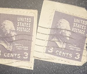 3 cent collectable U.S. stamps with cancellation. for Sale in Colton, CA