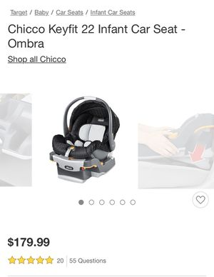 Chicco key fit car seat, snap in stroller and 2 bases ($384 value) for Sale in Tempe, AZ