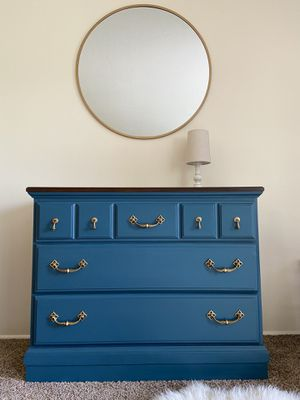 Beautiful refinished dresser / chest of drawers / entryway storage / tv stand for Sale in Portland, OR