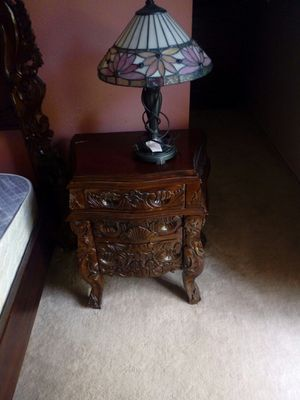 King size bed frame and two night stands for Sale in San Diego, CA