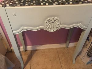 Mini table, black board shelf and chair mint color for Sale in Commerce, CA
