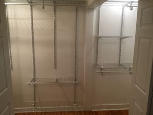 Heavy duty, closet white , adjustable shelving system for Sale in Canonsburg, PA