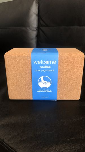 Manduka cork yoga block for Sale in Hawthorne, CA