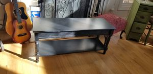 Bench with hidden storage and bottom shelf for Sale in Hillsborough, NC