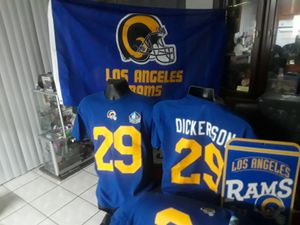 Superbowl shirts super bowl 53 LA RAMS gear flags jersey for Sale in Orange, CA