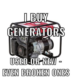I buy generators broken and working for Sale in Addison, IL
