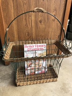 Magazine Rack Holder Boho Wicker Rattan for Sale in San Diego,  CA