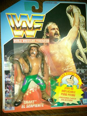WWF JAKE THE SNAKE VINTAGE FIGURE TOY for Sale in Howell Township, NJ