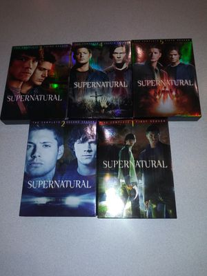 SUPERNATURAL THE COMPLETE FIRST 5 SEASONS DVD SET for Sale in Naperville, IL