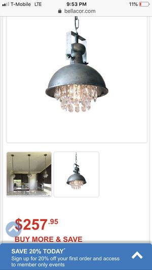Brand new industrial crystal chandelier for Sale in Easton, MA