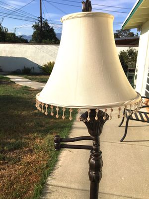 Floor Lamp- Swing Away- Has Marble In Vase- Complete with Shade! for Sale in West Covina, CA
