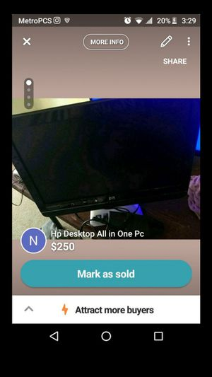 Hp Pc/Desktop All in one (CASH ONLY or PayPal) for Sale in Saginaw, MI