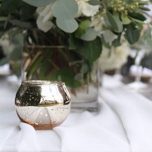 70 gold mercury glass votive candle holders for Sale in Benicia, CA