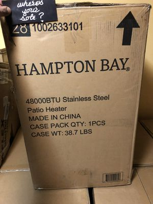 Hampton Bay 48000 BTU Stainless Steel propane Patio Heater New in box for Sale in Queens, NY