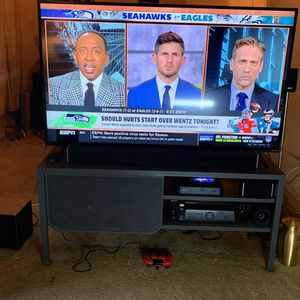 Visio 55 Inch Smart TV with stand, Visio sound bar w\ woofer and Sony receiver. for Sale in Washington, DC