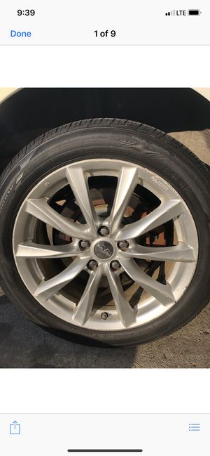 18 in Infiniti Wheels and Tires (Set of 4) for Sale in Boston, MA