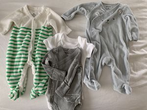Newborn premie baby boy neutral clothes lot used & new for Sale in Oregon City, OR