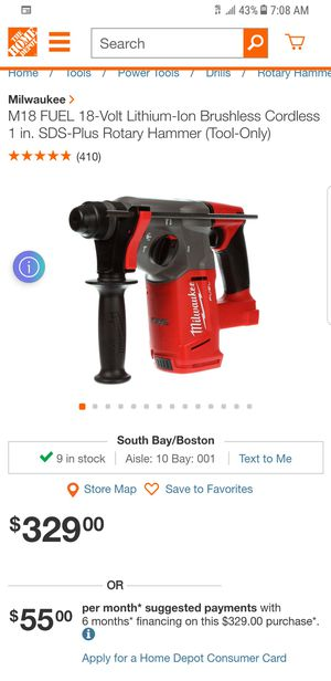 M18 FUEL Milwaukee rotary hammer for Sale in Revere, MA