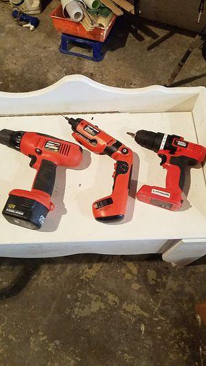 3 Black & Decker Drills for Sale in Charleston, WV