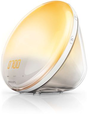 Philips Wake-Up Light Alarm Clock with Sunrise Simulation and Sunset Fading Night Light, White (HF3510). for Sale in Pico Rivera, CA