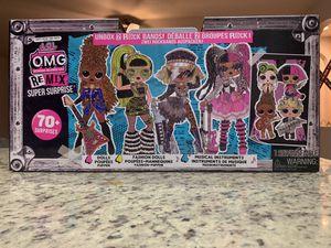 LOL Surprise OMG Remix Super Surprise 70 + Surprises 4 Fashion Dolls & 4 Sisters for Sale in Bakersfield, CA