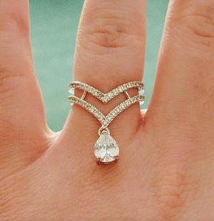 Silver White Topaz Gemstone Ring Size 6 7 8 9 10 for Sale in Wichita, KS