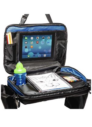 Kids Car Seat Travel Tray: Toddler Table & Desk Storage Organizer for Activities. Carseat Lap Activity Trays with Cup Holder & Accessories for Toddle for Sale in Brooklyn, NY