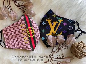 Face Mask - Reversible Black with Multicolor Design for Sale in Phoenix, AZ